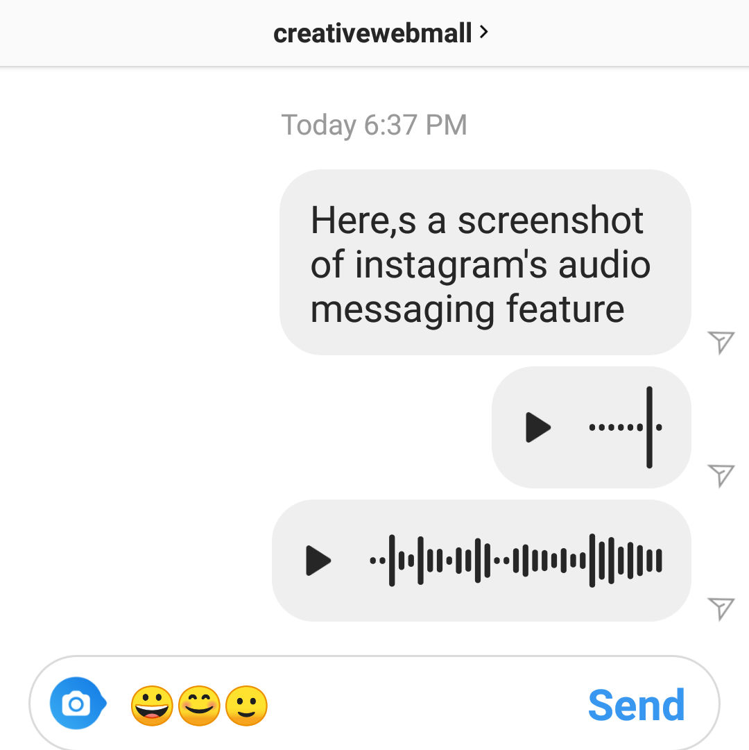 Instagram Audio Messaging